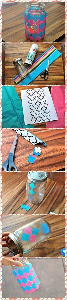 Faux Stain Glass DIY