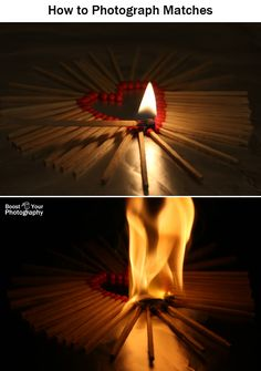 How to Photograph Matches and Fire Boost Your Photography Narrative Photography, Fire Photography, Photography Basics, Photography Lessons, Photography For Beginners, Photography Projects, Abstract Photography, Photography Backdrops, Photography Tutorials
