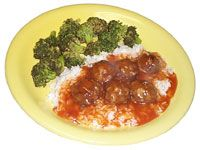 Sweet and sour meatballs - my 6 year olds eat a whole tray everytime!