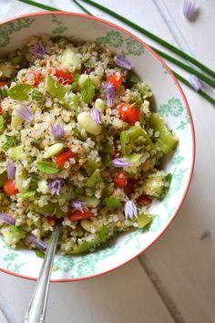 Taboulé de quinoa et crudités d'été #Vegan #LowCarb