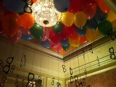 Balloons and frames.