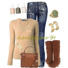 Cable Knit Sweater, created by shannonmarie-94 on Polyvore