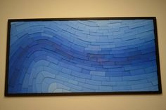 Presenting the third and final piece in the Geology series, Cobalt, modern blue wooden wall art