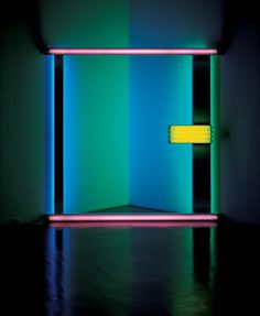 Not the light, but the lines. Light Installation By: Dan Flavin Techno, Collage Kunst, Light Art Installation, Art Installations, Contemporary Art, Modern Art, Lights Artist, Robert Rauschenberg, We Will Rock You