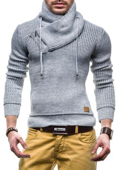 BOLF Sweatjacke Herren Pulli Pullover Sweatshirt Hochkragen 616: Amazon.de: Bekleidung Casual Wear, Casual Outfits, Men Casual, Classic Men, Cooler Look, Herren Outfit, Winter Mode, Mens Fall, Mode Outfits