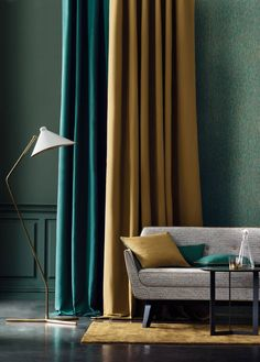 Tissus Casamance + Wallp - Home Decora La Maison Girl Bedroom Walls, Home Decor Bedroom, Living Room Decor, Casa Milano, Rideaux Design, Living Room Tv Unit Designs, Casamance, Modern Curtains, Hotel Decor