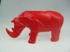 Ceramic Origami Rhino