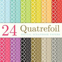 Paper to line the back of a cabinet! LOVE QUATRAFOIL!