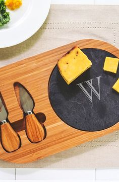 Cathy's Concepts Personalized Cheese Board & Utensils available at #Nordstrom