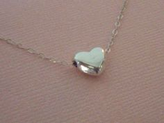 Tiny heart necklace Dainty Jewelry Sterling Silver by West9th, $14.00