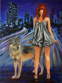 Modern red ridinghood with wolf in New York at night by EzicArts Disney Characters, Fictional Characters, Wolf, New York, Disney Princess, Trending Outfits, Modern, Red, Night