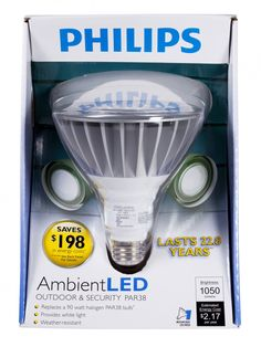Philips AmbientLED (TM) 90W Replacement Outdoor and Security PAR38 LED Light Bulb - Warm White $59.95 Recessed Lighting Fixtures, Led Track Lighting, Led Flood Lights, Incandescent Light Bulb, White Light, Bulbs, Warm, Outdoor, Lightbulbs