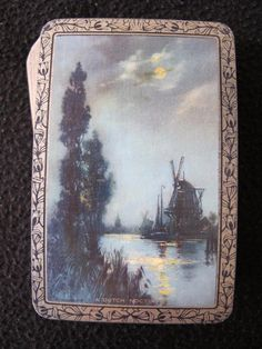 VINTAGE 1930's PACK OF GILT EDGE GOODALL PLAYING CARDS - A DUTCH NOCTURNE  | eBay