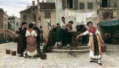 Eugene de Blaas nacque a Albano, vicino Roma, da genitori austriaci. Suo padre Karl, anche un pittore nazareno, ed è stato il suo insegnante. Nel 1856 la famiglia si trasferì a Venezia, quando Karl divenne professore presso l'Accademia di Venezia.