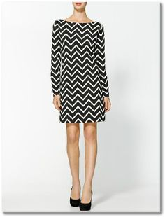 More chevron! This dress would be so fun with a bright colored clutch.