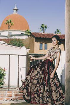 Red and Gold Sabyasachi Lehenga | South Asian Wedding Blog | Think Shaadi