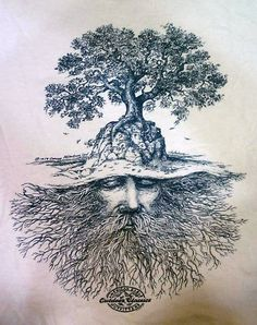 Tree beard. An OLD American Eagle t-shirt design