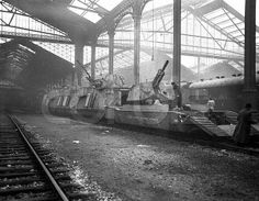 German armored train captured by allied forces at St Layare France 44