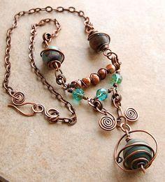 Copper Wire Jewelry   copper wire jewelry « Art and Tea