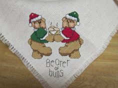 Cross Stitch Bread Cover / Bread Cloth Bearer of by Kitkateden, $15.00