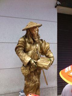 Estátua Humana (Human Statue) - Ano Novo Chinês (Chinese New Year) - Bairro da Liberdade - SP 2014