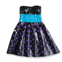 gotta love colored duct tape! This dress sure looks cute with light blue duct tape for the waistband! Sybil