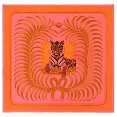 """""""Tigre Royal"""", 140x140 cm scarf in silk twill. Design: Christiane Vauzelles. Play with your Hermès scarf with the Silk Knots app! hermes.com/silkknots   #Hermes #Silk #SilkKnots"""
