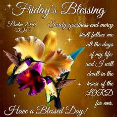 Friday Blessings!Psalm 23:6