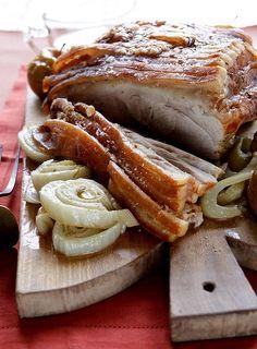 Good Food - Slow-roast shoulder of pork with fennel and apples recipe Apple Recipes, Pork Recipes, Wine Recipes, Chef Recipes, Slow Roast, Pork Roast, Sushi, Pork Shoulder Roast, Sandwiches