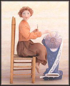 Gallery  Lucie Winsky Dolls. The Little Bobbin Lace Maker