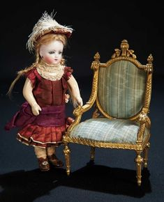 Let the Music Begin!: 5 Diminutive Sonneberg Bisque Doll with Original Costume