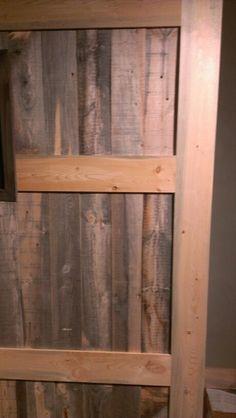Barn wood door with pine