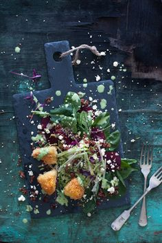The warm, crispy Brie is fantastic with the sweet, earthy beetroot shavings and the dressing adds tang to the rest of the salad. Baby Spinach Salads, Micro Herbs, Buttermilk Dressing, Cheese Wedge, Panko Crumbs, Recipe Ratings, Honey Lemon, Salad Bowls, Beetroot