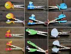 Great idea for wooden pegs