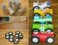 Toilet roll racers!
