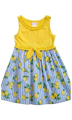 lemon print dress for summer #affiliate #summer #toddler