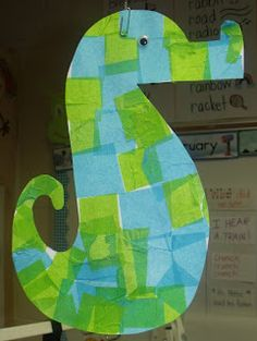 Mrs Jump's class, seahorse art    Seriously?  How cute would this be to make!