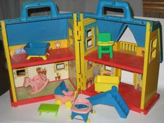 @Tiffany Evers: Do you remember this?!     Sesame Street ILCCO Muppets Nursery Dollhouse Playset and Furniture