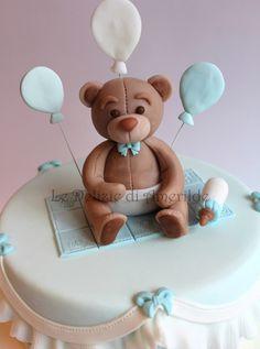 """Le Delizie di Amerilde. """"A new baby Boy is Born"""" cake topper.  www.ledeliziediamerilde.it"""