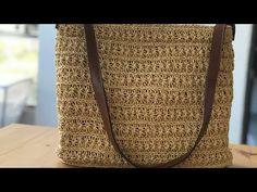Easy Knitting Patterns, Stitch Patterns, Crafts For Teens, Diy And Crafts, Crochet Bag Tutorials, Crochet Basket Pattern, Water Hyacinth, Crochet Handbags, Filet Crochet