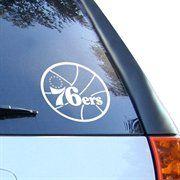 Philadelphia 76ers White 8'' Logo Decal