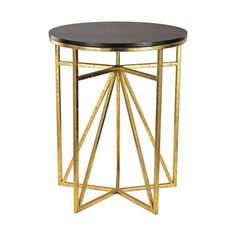 Sterling Industries Gold And Dark Espresso Geometric Accent Table On SALE $150