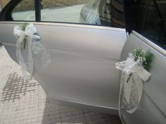 Car Decoracion For Wedding - just ribbon without the flowers
