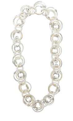 Single-Strand Necklace with Affirmation Charms, Hill Tribes Ring Beads, and White Lotus Cultured Freshwater Pearls