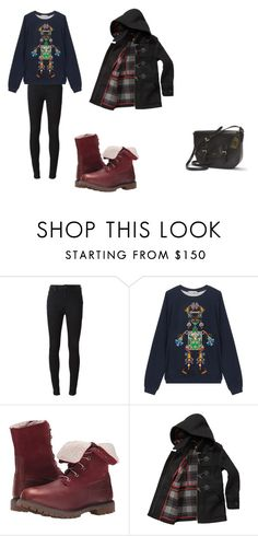 """""""Untitled #117"""" by catherinetemb ❤ liked on Polyvore featuring Burberry, Mary Katrantzou, Timberland, Barbour and Ralph Lauren"""