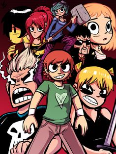 Scott Pilgrim vs the World Scott Pilgrim Movie, Arte Pulp Fiction, Bryan Lee O Malley, Comic Style, Ramona Flowers, Vs The World, Culture Pop, Arte Pop, Scottie