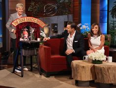Giuliana and Bill Rancic were on the show and they got a little mock talk show playset for Duke! It was adorable!