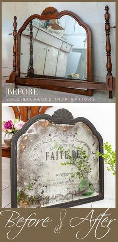 DIY Antiqued Mirror and How To Apply Prima Transfers DIY Antiqued Mirror and How To Apply Prima Transfers Salvaged Inspirations The post DIY Antiqued Mirror and How To Apply Prima Transfers appeared first on Vintage ideas. Mirror Makeover, Diy Mirror, Diy Decoupage Mirror, Sunburst Mirror, Mirror Ideas, Shabby Chic Pink, Furniture Makeover, Diy Furniture, Modern Furniture