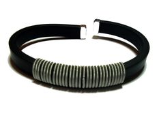 Men's Rubber Cuff Bracelet