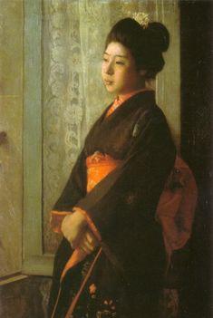 Shikyo by Wada Eisaku (Geidai Museum) - 和田英作 - Wikipedia Mona Lisa, Artwork, Painting, Work Of Art, Auguste Rodin Artwork, Painting Art, Artworks, Paintings, Painted Canvas